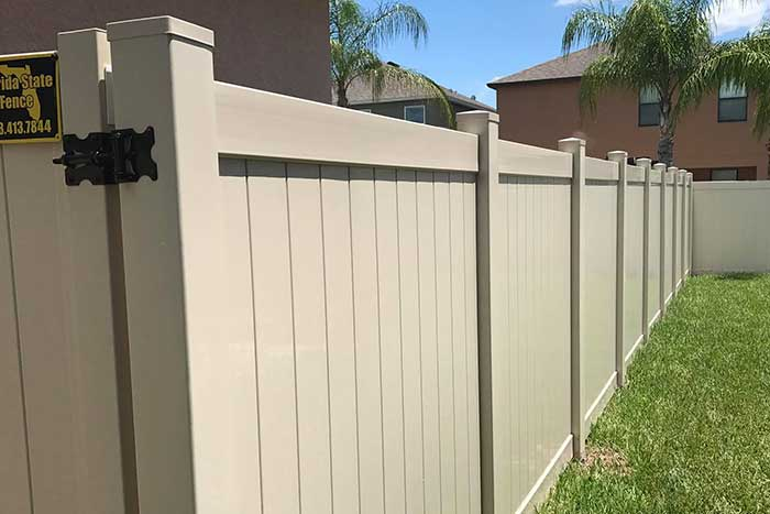 Low Maintenance Vinyl Fence Tampa Fl Florida State Fence