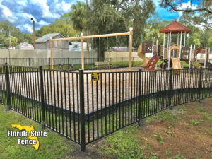 2-Rail Black Aluminum Fence