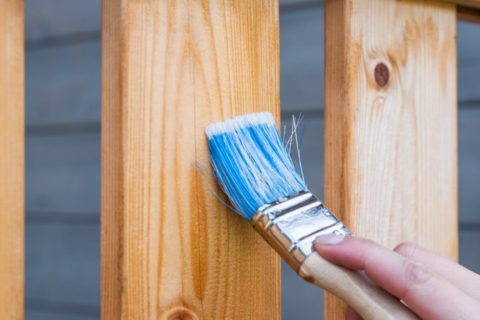 how to paint a wood fence tampa